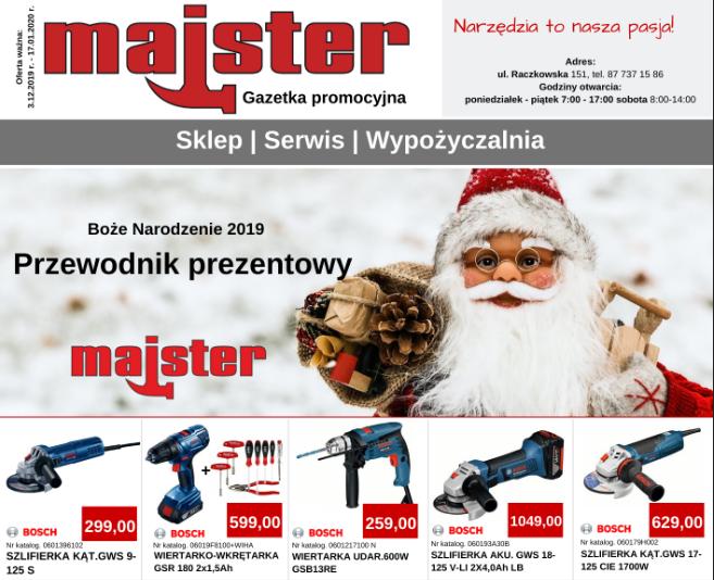 Świąteczna gazetka promocyjna Majster