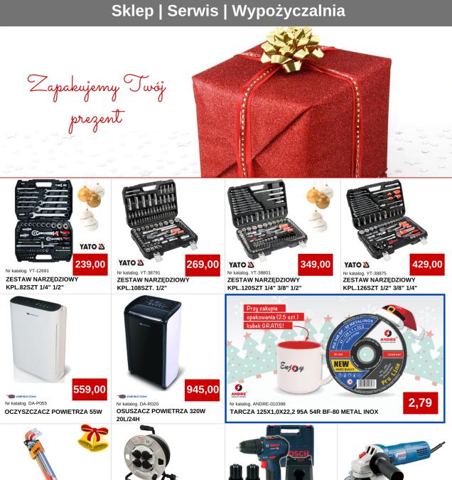 Świąteczno-noworoczna gazetka promocyjna Majster